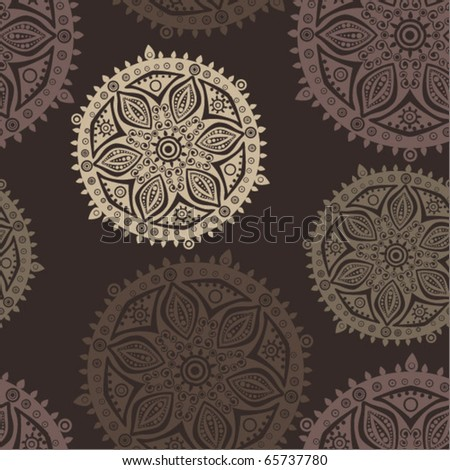 Retro background, lace seamless pattern - stock vector