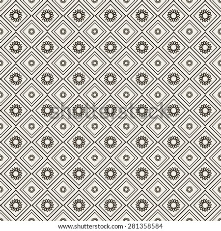 Retro background. Wallpaper pattern. Geometric background. Seamless pattern. Islamic backgrounds. Arabic design. Vector