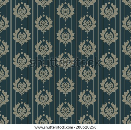 Retro background. Wallpaper pattern. Seamless pattern. For Your Design, Book, Poster, Invitation, Web design, Wallpapers for walls. Vector backdrop - stock vector