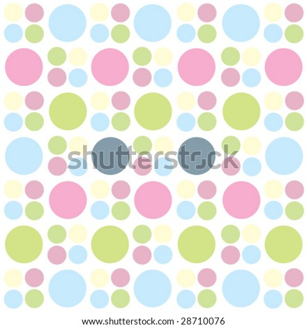 Retro background with circles - stock vector