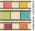 Retro background with film strips - stock photo