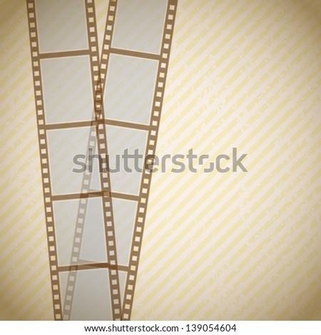 retro background with filmstrip - stock vector