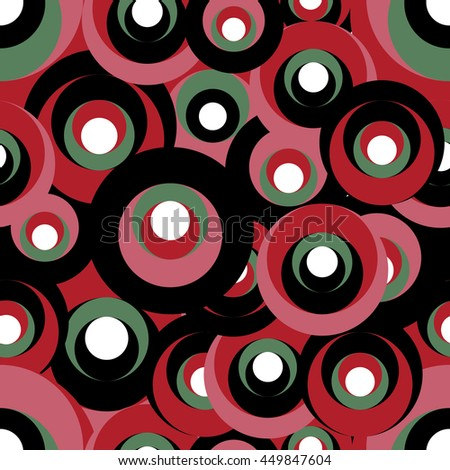 Retro backround in a variety of color. Circle pattern. Vector art. Abstract geometric background created from circle pattern.