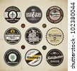 Retro Badges and Labels set. - stock vector