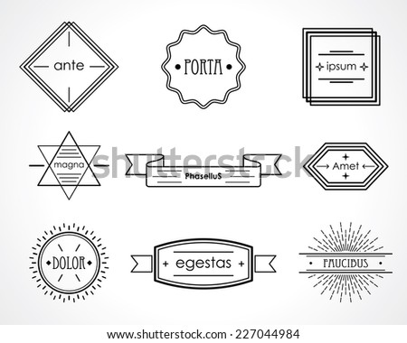 retro badges and labels. vector design elements set. eps8 - stock vector