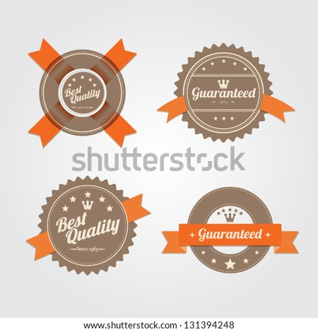 Retro badges. template vector format for your design - stock vector
