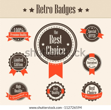 Retro badges. Vector - stock vector