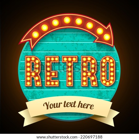 retro banner - stock vector