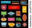 Retro banner motel sign - stock vector