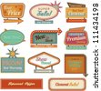 Retro banner sign/ad. Vector illustration - stock vector