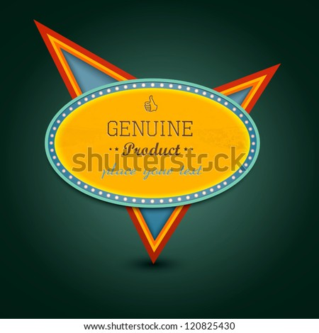 Retro banner sign. Vector - stock vector