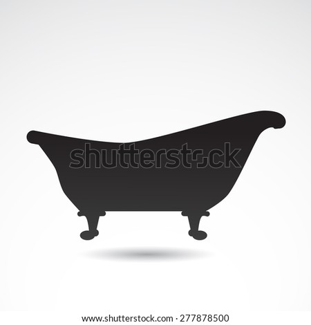 Retro bath icon isolated on white background. Vector art.