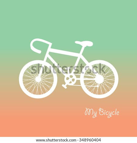 retro bicycle symbol vector cartoon