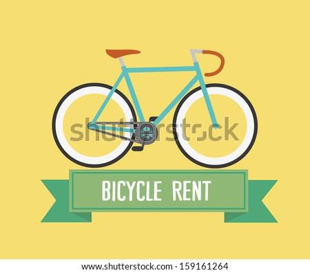 Retro bike / Fixed gear / Simple design - stock vector
