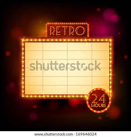Retro billboard poster vector illustration - stock vector