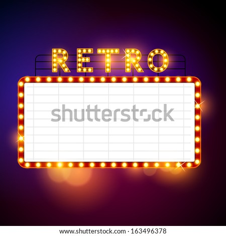 Retro Billboard waiting for your message! Vector illustration - stock vector