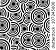 Retro black and white seamless pattern. - stock vector