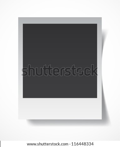 Retro blank photography with a black place for your image in a photo album page. EPS10 vector - stock vector
