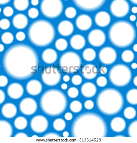 Retro blue seamless texture pattern with round holes - stock vector