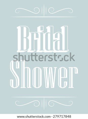 retro bridal shower, illustration in vector format - stock vector