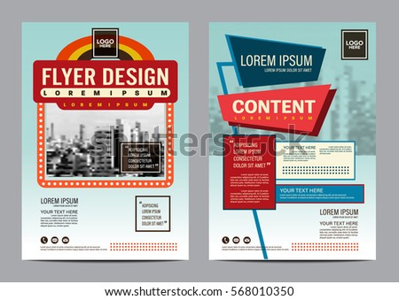 Retro Brochure Layout Design Template Annual Stock Vector