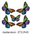 retro butterfly vector pattern - stock vector