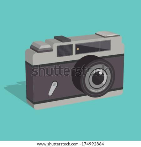 retro camera - stock vector