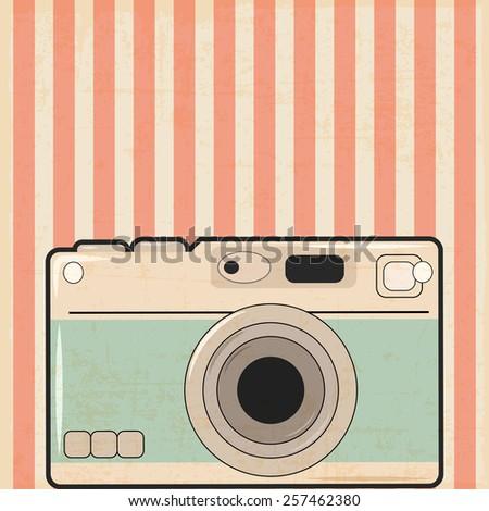 retro camera background, illustration in vector format - stock vector
