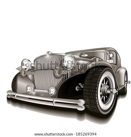 Retro car. - stock vector