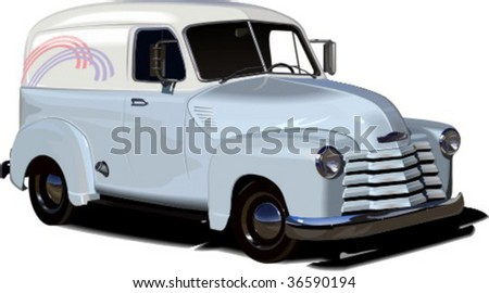 retro car isolated on white background vector illustration