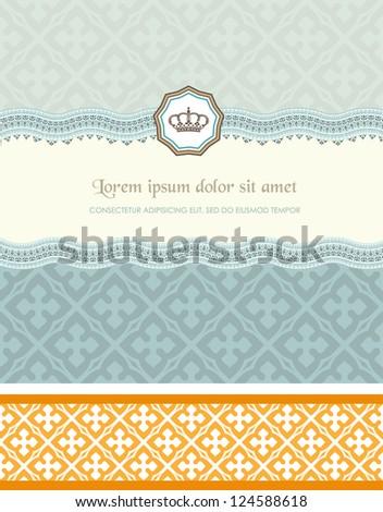 Retro card - stock vector