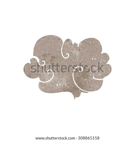 retro cartoon cloud of smoke - stock vector
