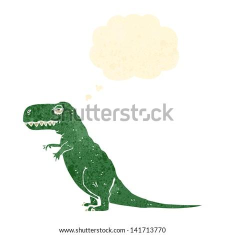 retro cartoon dinosaur - stock vector