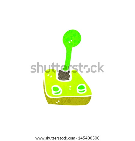 retro cartoon joystick - stock vector