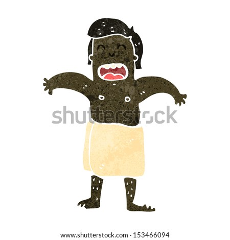 retro cartoon man wearing towel