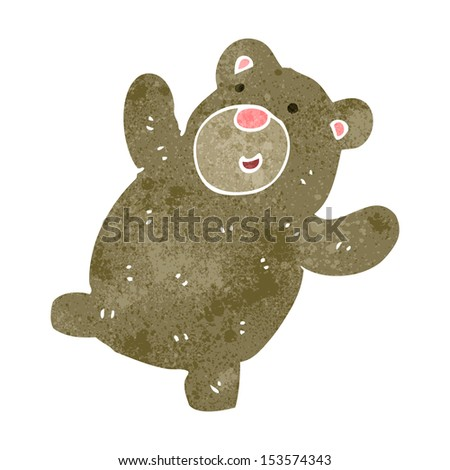 retro cartoon teddy bear