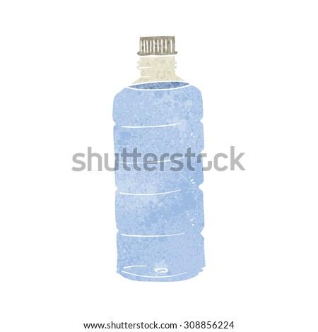retro cartoon water bottle - stock vector