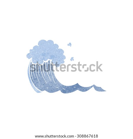 retro cartoon wave - stock vector