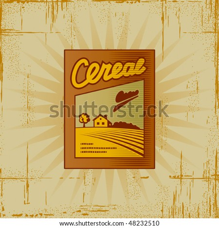 Retro Cereal Box. Vector - stock vector