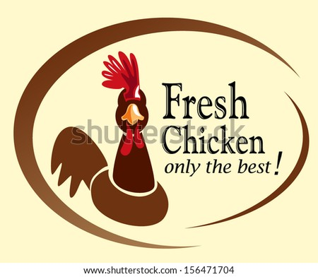 retro chicken sign,label - stock vector
