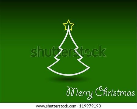 retro Christmas card template - stock vector