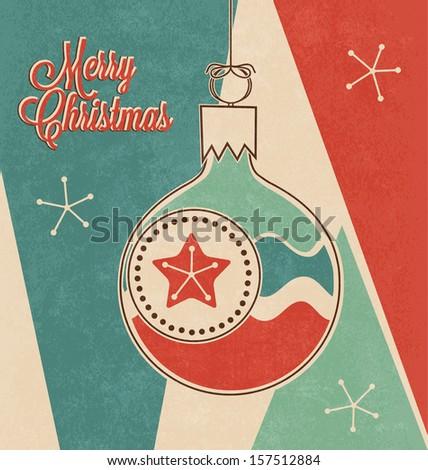 Retro Christmas Design - stock vector