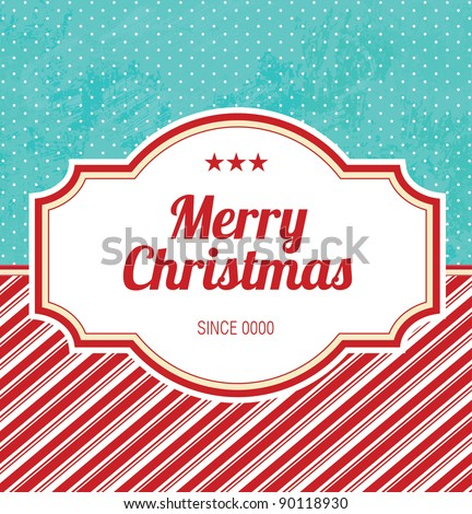 Retro Christmas Design - stock vector