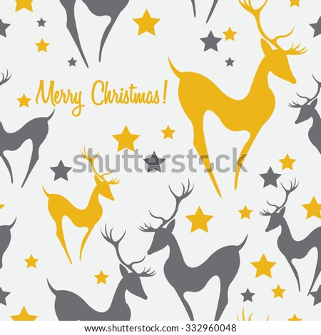 Retro Christmas pattern Seamless christmas background - stock vector