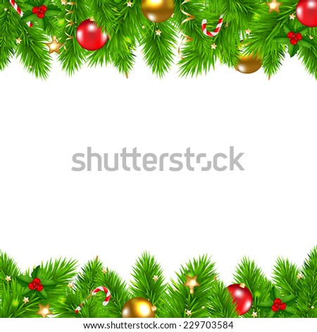 Retro Christmas Wall With Gradient Mesh, Vector Illustration - stock vector