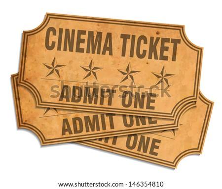 Retro cinema tickets - stock vector