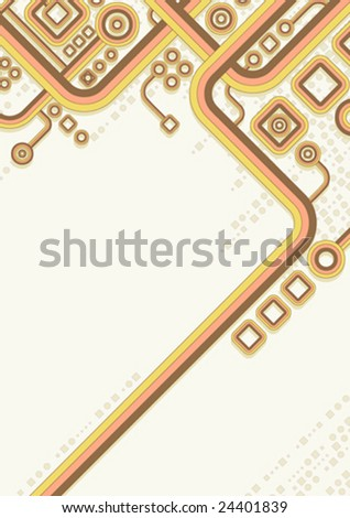 Retro Circuits - stock vector
