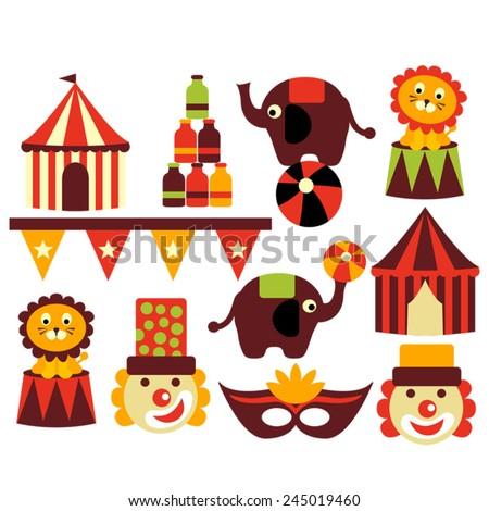 Circus Vector Stock Vector 340182155 - Shutterstock
