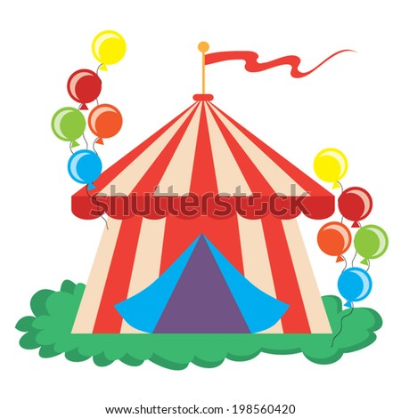 Retro circus vector illustration