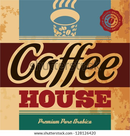 Retro Coffee Menu. Coffee House - stock vector